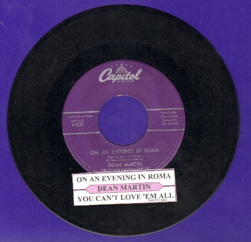 Martin, Dean - On An Evening In Roma/You Can't Love'em All (purple label first pressing with juke box label) - EX8/ - 45 rpm Records