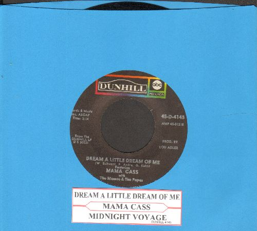 Mama Cass - Dream A Little Dream Of Me/Midnight Voyage (with juke box label) - VG7/ - 45 rpm Records
