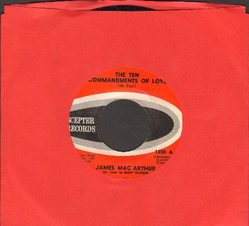 MacArthur, James - The Ten Commandments Of Love/Padre (Co-Star of TV Series Hawaii Five-O) - EX8/ - 45 rpm Records