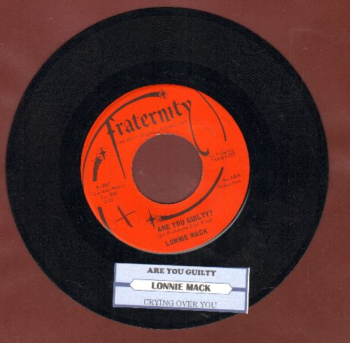Mack, Lonnie - Crying Over You/Are You Guilty? (with juke box label) - EX8/ - 45 rpm Records