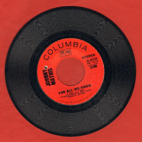 Mathis, Johnny - For All We Know/Odds And Ends (bb) - EX8/ - 45 rpm Records