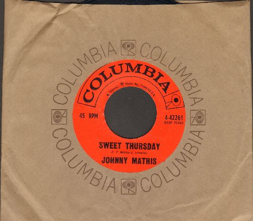 Mathis, Johnny - Sweet Thursday/One Look (with company sleeve) - NM9/ - 45 rpm Records