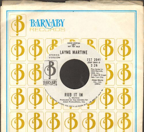 Martine, Laying - Rub It In (double-A-sided DJ advance pressing) - NM9/ - 45 rpm Records