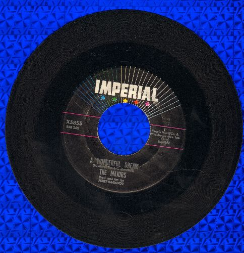 Majors - A Wonderful Dream/Time Will Tell  - VG6/ - 45 rpm Records