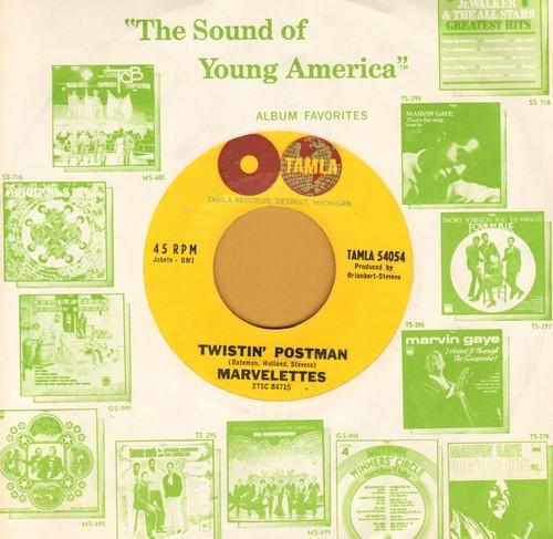 Marvelettes - Twistin' Postman/I Want A Guy (Tamla company sleeve) (minor wol) - NM9/ - 45 rpm Records