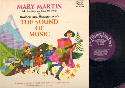 Martin, Mary - The Sound Of Music - Mary Martin tells the story and sings the songs of Rodgers and Hammerstein's The Sound Of Music (Vinyl STEREO LP record with picture pages) - VG7/VG7 - LP Records