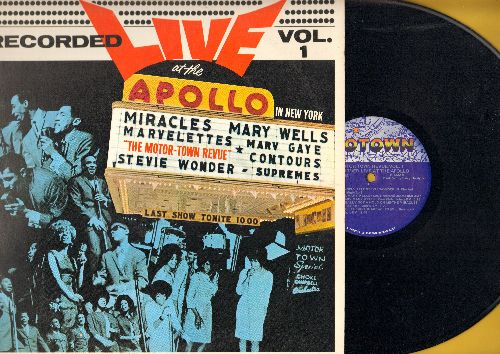 Contours, Supremes, Marvelettes, Miracles, others - Motown Revue Vol. 1 - LIVE at the Apollo: Bye Bye Baby, You've Really Got A Hold On Me, Whole Lotta Woman (vinyl LP record, re-issue of vintage recordings) - NM9/EX8 - LP Records