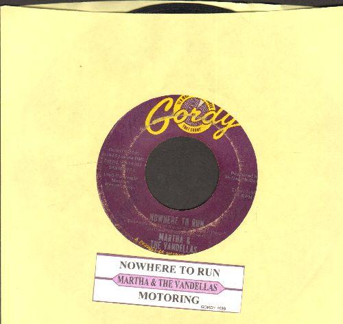 Martha & The Vandellas - Nowhere To Run/Motoring (with juke box label) - VG7/ - 45 rpm Records