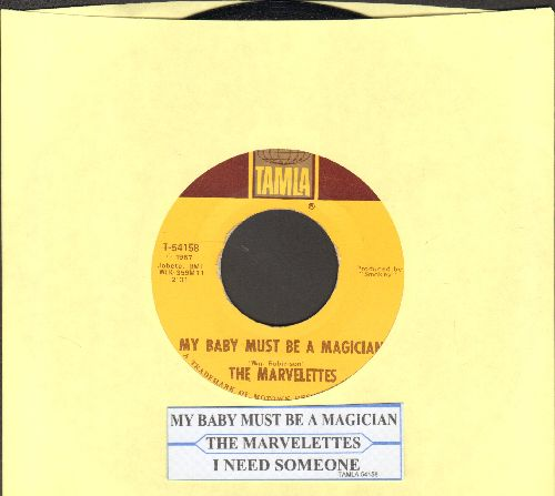Marvelettes - My Baby Must Be A Magician/I Need Someone (with juke box label) - EX8/ - 45 rpm Records