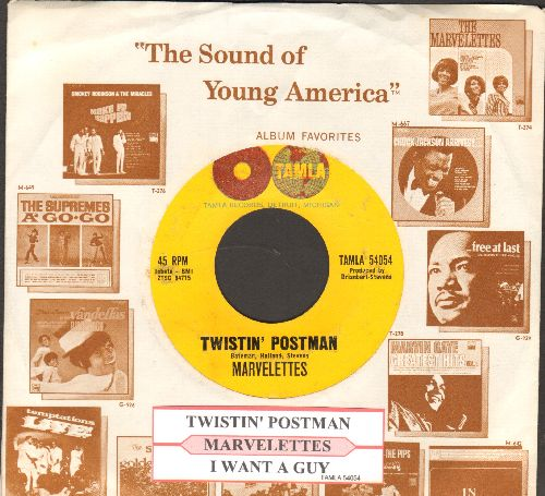 Marvelettes - Twistin' Postman/I Want A Guy (with juke box label and company sleeve) - NM9/ - 45 rpm Records