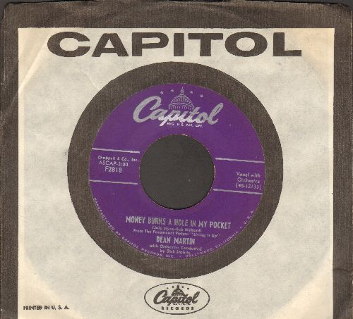 Martin, Dean - Money Burns A Hole In My Pocket/Sway (RARE vintage 2-sider with Capitol company sleeve) - VG7/ - 45 rpm Records