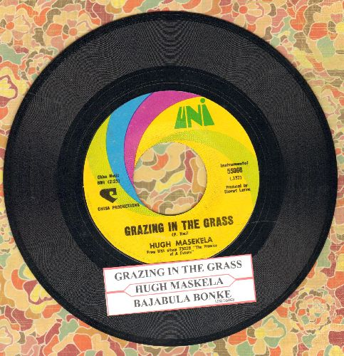 Masekela, Hugh - Grazing In The Grass/Bajabula Bonke (with juke box label) - NM9/ - 45 rpm Records