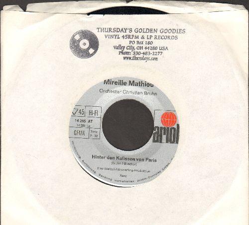 Mathieu, Mireille - Hinter den Kulissen von Paris/Martin (German Pressing, sung in German) - EX8/ - 45 rpm Records