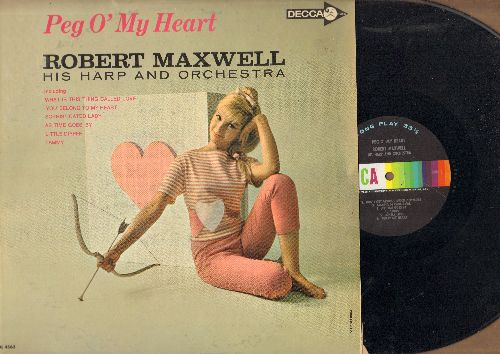 Maxwell, Robert - Peg O'My Heart: Don't Get Around Much Anymore, As Time Goes ByTammy, One O'Clock Jump (vinyl MONO LP record) - NM9/EX8 - LP Records