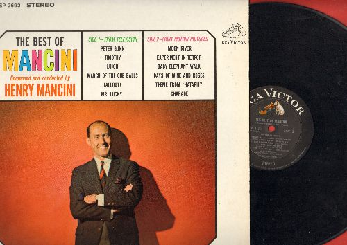 Mancini, Henry - The Best Of Mancini: Moon River, Peter Gunn, Experiment In Terror, Baby Elephnat Walk, Charade (black label first issue) - NM9/EX8 - LP Records