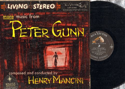 Mancini, Henry & His Orchestra - More Music From Peter Gunn (composed and conducted by Henry Mancini) (Vinyl STEREO LP record) - EX8/VG6 - LP Records
