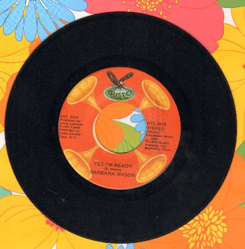 Mason, Barbara - Yes I'm Ready/Tossin' And Turnein' (by Bobby Lewis on flip-side) (re-issue) - EX8/ - 45 rpm Records