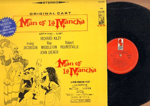 Man Of La Mancha - Man Of La Mancha - Original Broadway Cast, Best Musical 1966 N.Y. Drama Critics' Circle Award (vinyl STEREO LP record) - NM9/EX8 - LP Records