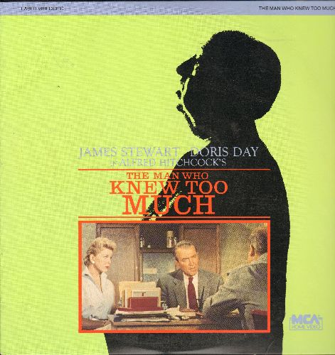 The Man Who Knew Too Much - The Man Who Knew Too Much - James Stewart and Doris Day in Hitchcock's Classic on LASERDISC (This is a LASERDISC, not any other kind of media!) - NM9/EX8 - LaserDiscs