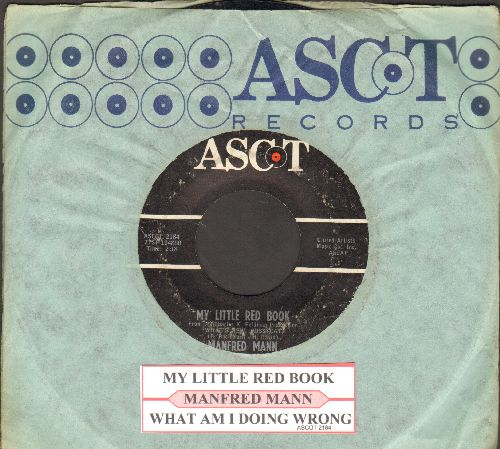 Mann, Manfred - My Little Red Book/What Am I Doing Wrong (with juke box label and RARE Ascot company sleeve) - EX8/ - 45 rpm Records