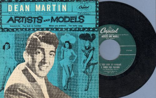 Martin, Dean - Artists And Models: Innamorata/The Lucky Song/You Look So Familiar/When You Pretend (vinyl EP record with picture cover) - EX8/EX8 - 45 rpm Records