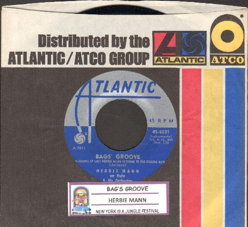 Mann, Herbie - Bags' Groove/New York Is A Jungle Festival (with juke box label and Atlantic company sleeve) - EX8/ - 45 rpm Records