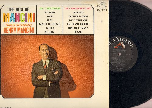 Mancini, Henry - The Best Of Mancini: Moon River, Peter Gunn, Experiment In Terror, Baby Elephnat Walk, Charade (Vinyl MONO LP record, black label first issue) - EX8/EX8 - LP Records