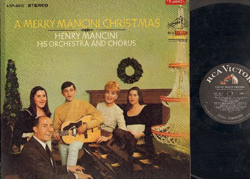 Mancini, Henry & Orchestra & Chorus - A Merry Mancini Christmas: The Little Drummer Boy, Jingle Bells/Sleigh Ride, Winter Wonderland/Silver Bells, other Medleys (Vinyl STEREO LP record) - EX8/EX8 - LP Records