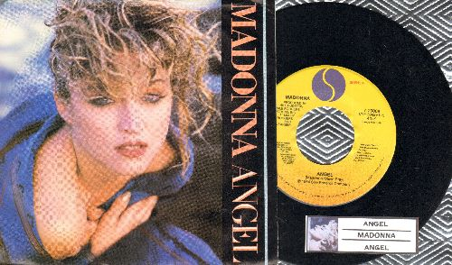 Madonna - Angel/Angel (Dance Mix) (with picture sleeve juke box label) - NM9EX8/EX8 - 45 rpm Records