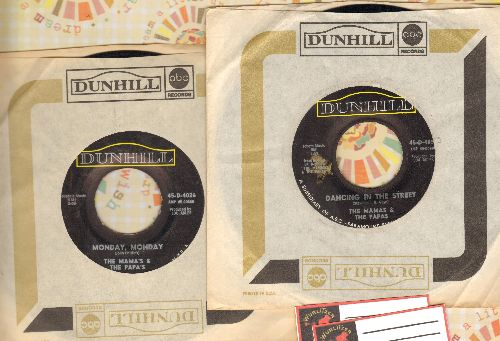 Mamas & Papas - 2 for 1 Special: Dancing In The Street/Monday, Moday (2 vintage first issue 45rpm records with Dunhill company sleeves for the price of 1!) - EX8/ - 45 rpm Records