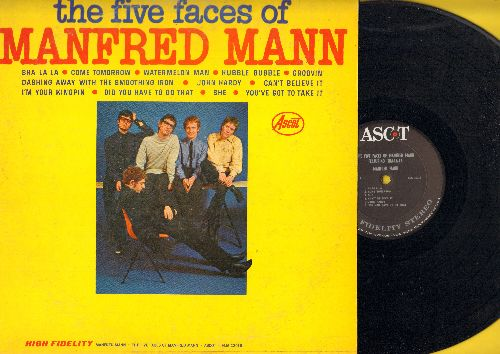 Mann, Manfred - The Five Faces Of Manfred Mann: Sha La La, Groovin', John Hardy, Come Tomorrow, Did You Have To Do That, Watermelon Man (vinyl STEREO LP record) - NM9/VG7 - LP Records