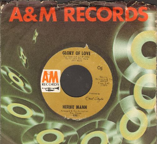 Mann, Herbie - Glory Of Love/Unchain My Heart (with juke box label) - NM9/ - 45 rpm Records