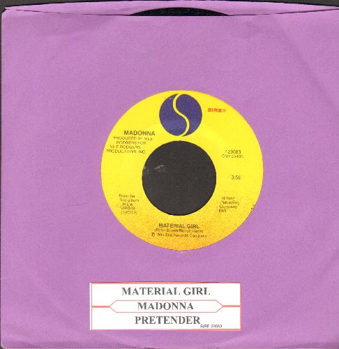 Madonna - Material Girl/Pretender (with juke box label) - NM9/ - 45 rpm Records