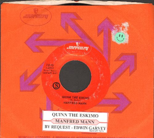 Mann, Manfred - Quinn The Eskimo/By Request -Edwin Garvey (with juke box label and Mercury company sleeve) - NM9/ - 45 rpm Records