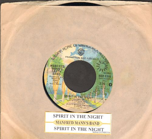 Mann, Manfred Earth Band - Spirit In The Night/Questions (with juke box label and company sleeve) - EX8/ - 45 rpm Records