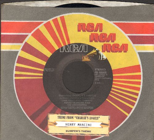 Mancini, Henry & His Orchestra - Theme From Charlie's Angels/Bumper's Theme from The Blue Knight (with juke box label and RCA company sleeve) - NM9/ - 45 rpm Records