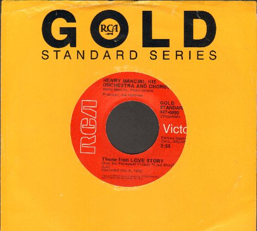 Mancini, Henry & His Orchestra - Theme From Love Story/Mr. Lucky (re-issue with company sleeve) - NM9/ - 45 rpm Records