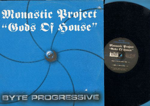 Monastic Project - Gods Of House (6:51 minutes Hard Mix)/Gos Of House (6:00 minutes Dub Mix) (12 inch vinyl Maxi Single, Belgian pressing with picture cover) - NM9/NM9 - Maxi Singles