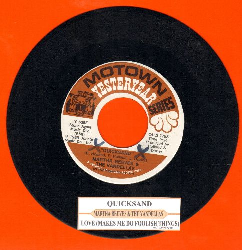 Martha & The Vandellas - Quicksand/Love (Makes Me Do Foolish Things) (double-hit re-issue with juke box label) - NM9/ - 45 rpm Records