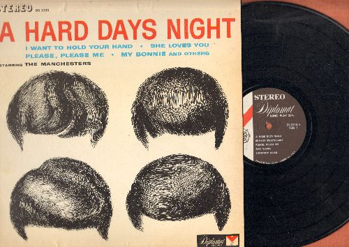 Manchesters - A Hard Days Night: I Want To Hold Your Hand, She Loves You, My Bonnie, Please Please MeShortnin' Bread (vinyl STEREO LP record) - NM9/EX8 - LP Records