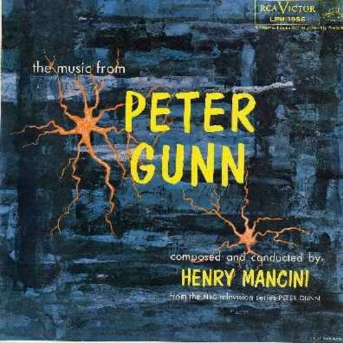 Mancini, Henry & His Orchestra - Peter Gunn - Music from the 1950s TV Drama Series (Vinyl MONO LP record) - EX8/VG7 - LP Records