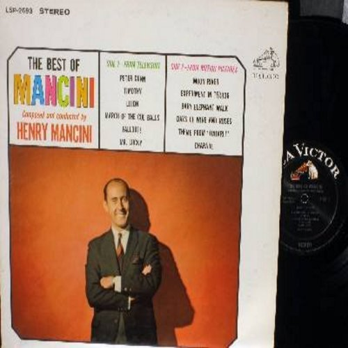 Mancini, Henry - The Best Of Mancini: Moon River, Peter Gunn, Experiment In Terror, Baby Elephnat Walk, Charade (black label first issue) - EX8/VG7 - LP Records