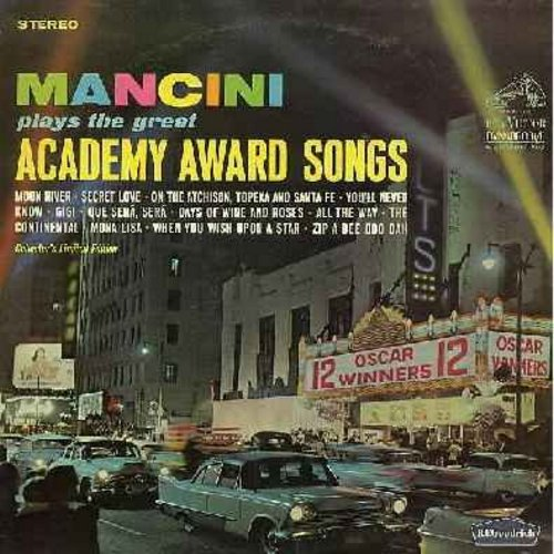 Mancini, Henry & His Orchestra - Academy Award Winning Songs: Moon River, Secret Love, You'll Never Know, Gigi, Que Sera Sera, Mona Lisa, The Continental, When You Wish Upon A Star (Vinyl STEREO LP record, Dynagroove) - VG7/VG7 - LP Records