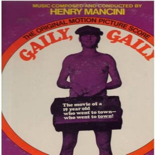 Mancini, Henry - Gaily, Gaily - Original Motion Picture Sound Track, Includes Tomorrow Is My Friend by Jimmie Rodgers and Christmas On Skid Row by Melina Mercoury (Vinyl STEREO LP record) - NM9/EX8 - LP Records