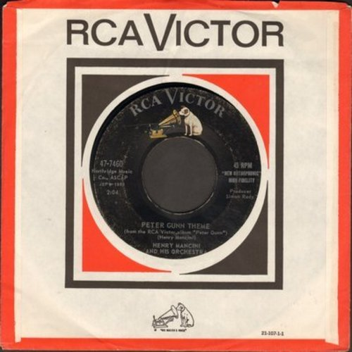 Mancini, Henry & His Orchestra - Peter Gunn Theme/The Brothers Go To Mother's (with RCA company sleeve) - VG7/ - 45 rpm Records