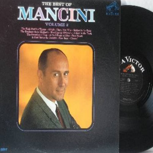 Mancini, Henry - The Best Of Mancini Volume 2: The Pink Panther Theme, A Shot In The Dark, Dear Heart, The Sweetheart Tree, Breakfast At Tiffany's  (Vinyl MONO LP record, black label first issue) - NM9/EX8 - LP Records