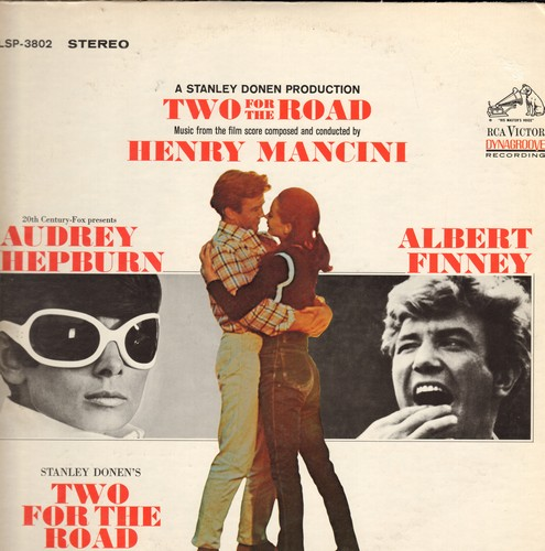 Mancini, Henry - Two For The Road - Music from the film starring Audrey Hepburn and Albert Finney, score composed and conducted by Henry Mancini (Vinyl STEREO LP record) - NM9/VG7 - LP Records