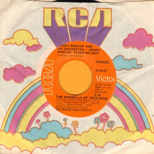 Mancini, Henry & His Orchestra - The Windmills Of Your Mind/Love Theme From Romeo & Juliet (with RCA company sleeve) - NM9/ - 45 rpm Records