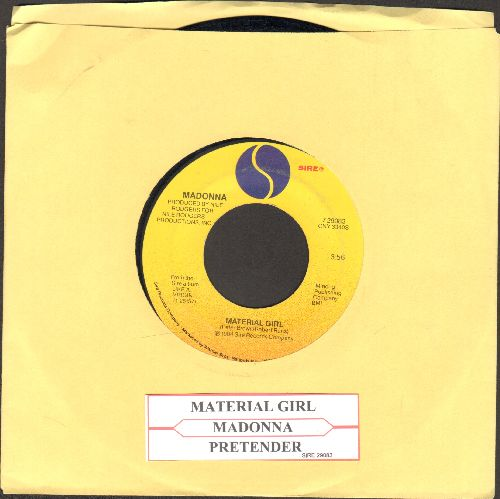 Madonna - Material Girl/Pretender (with juke box label) - VG7/ - 45 rpm Records