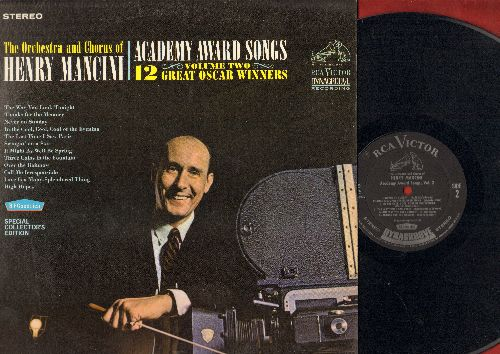 Mancini, Henry & His Orchestra - Academy Award Winning Songs: Moon River, Secret Love, You'll Never Know, Gigi, Que Sera Sera, Mona Lisa, The Continental, When You Wish Upon A Star (Vinyl STEREO LP record, Dynagroove) - EX8/EX8 - LP Records
